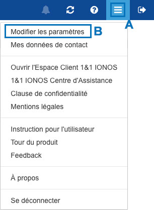 Paramètres webmail 1&1 IONOS