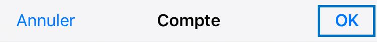 Réglages > Mail... > Compte > SMTP