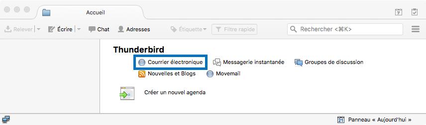 Mozilla Thunderbird > Accueil