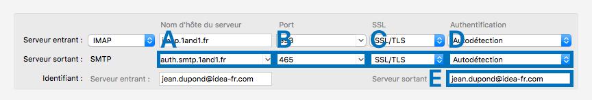 Mozilla Thunderbird > Création d'un compte courrier > Serveur sortant